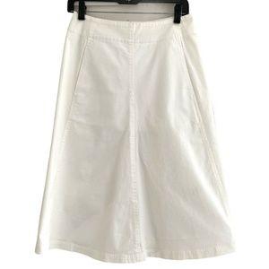T BY ALEXANDER WANG Womens Midi Skirt in White -4